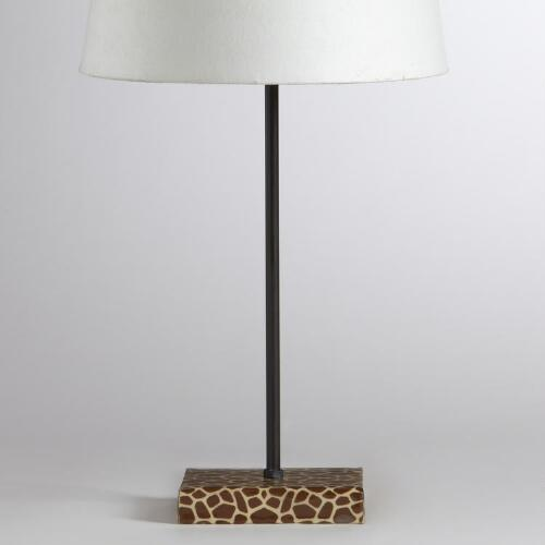 Manvi Giraffe Print Accent Lamp Base