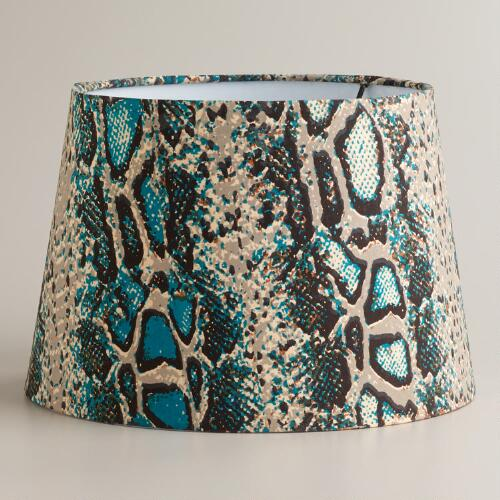 Snake Skin Print Accent Lamp Shade