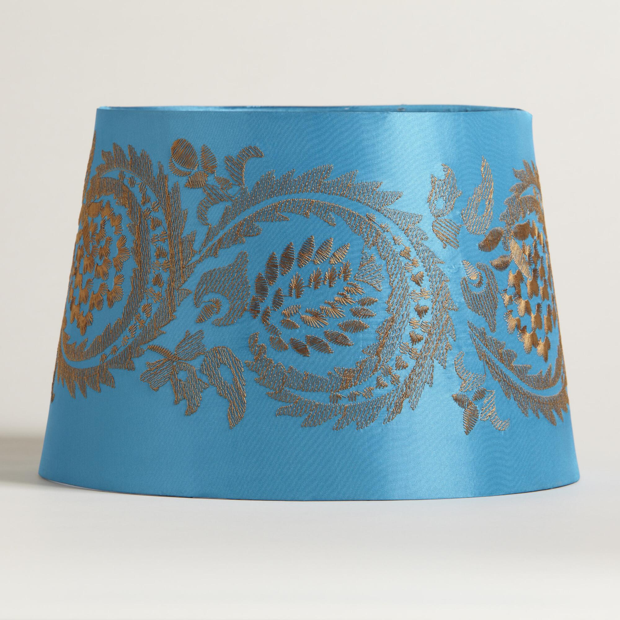 Blue Embroidery Accent Lamp Shade World Market