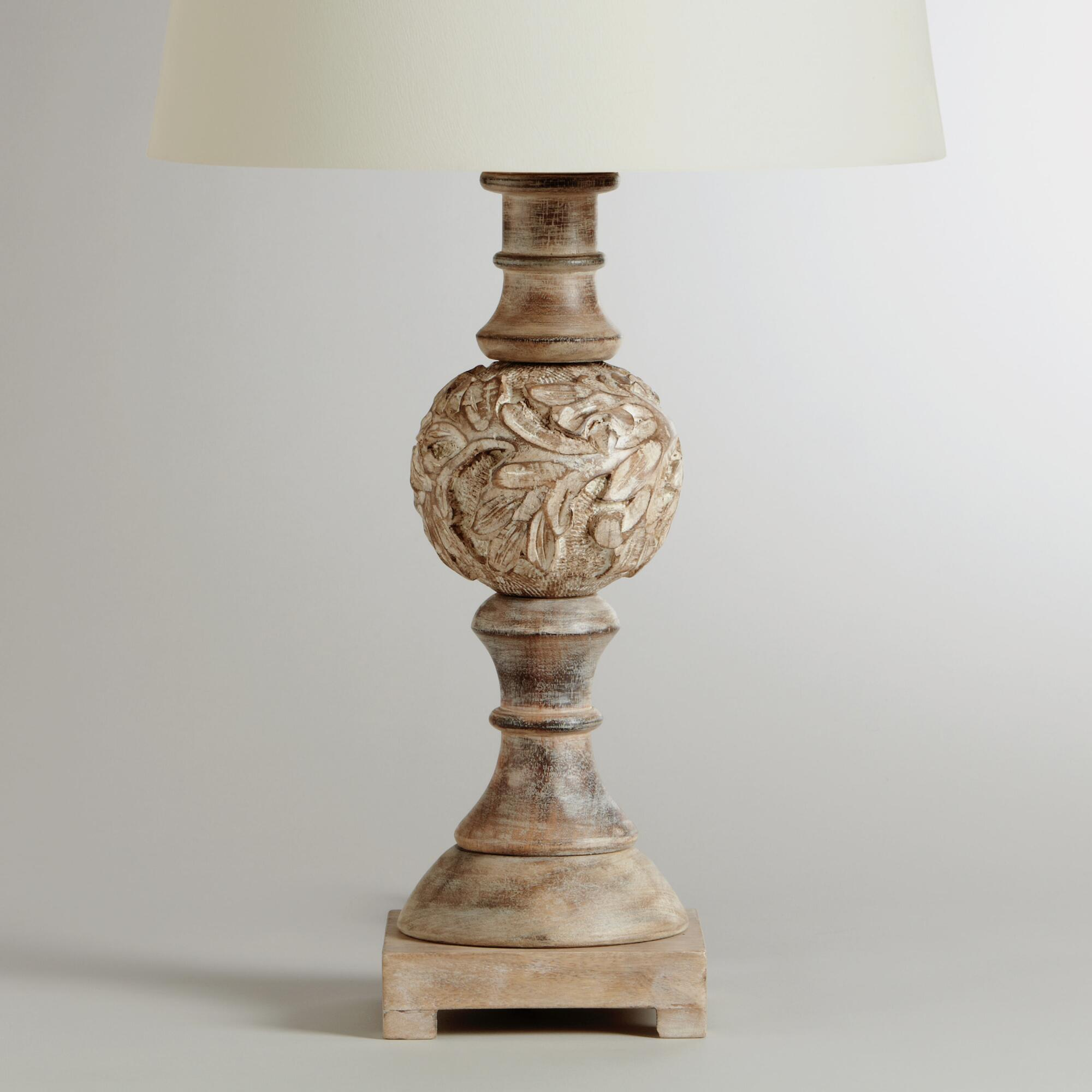 Wooden Round Pedestal Table Lamp Base World Market