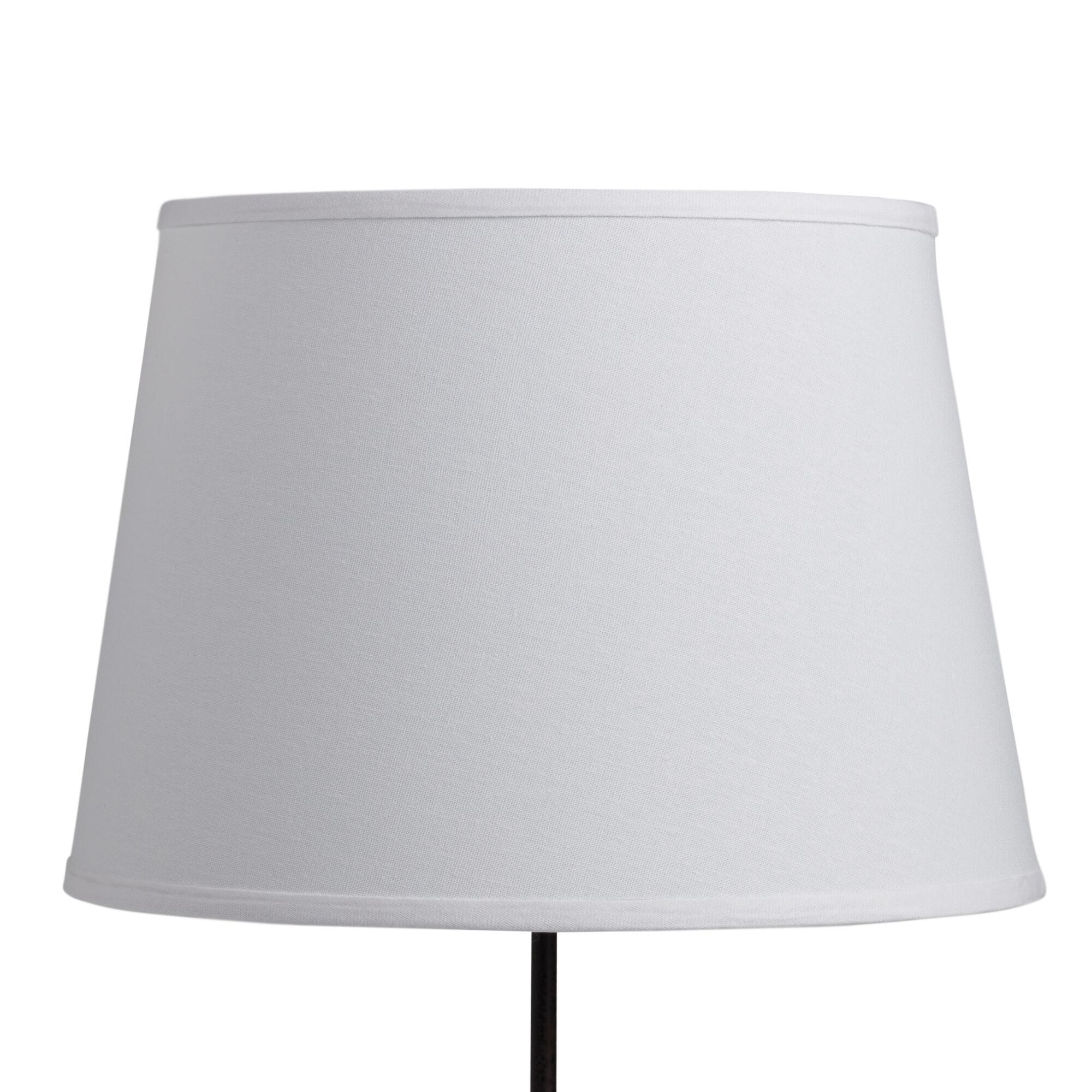 white cotton linen table lamp shade world market. Black Bedroom Furniture Sets. Home Design Ideas