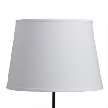 White Cotton Linen Table Lamp Shade