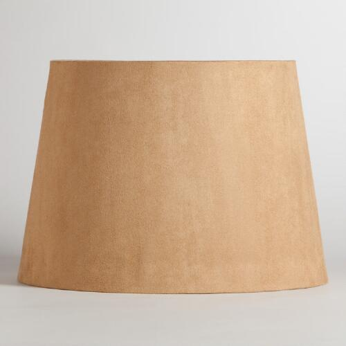 Natural Suede Table Lamp Shade