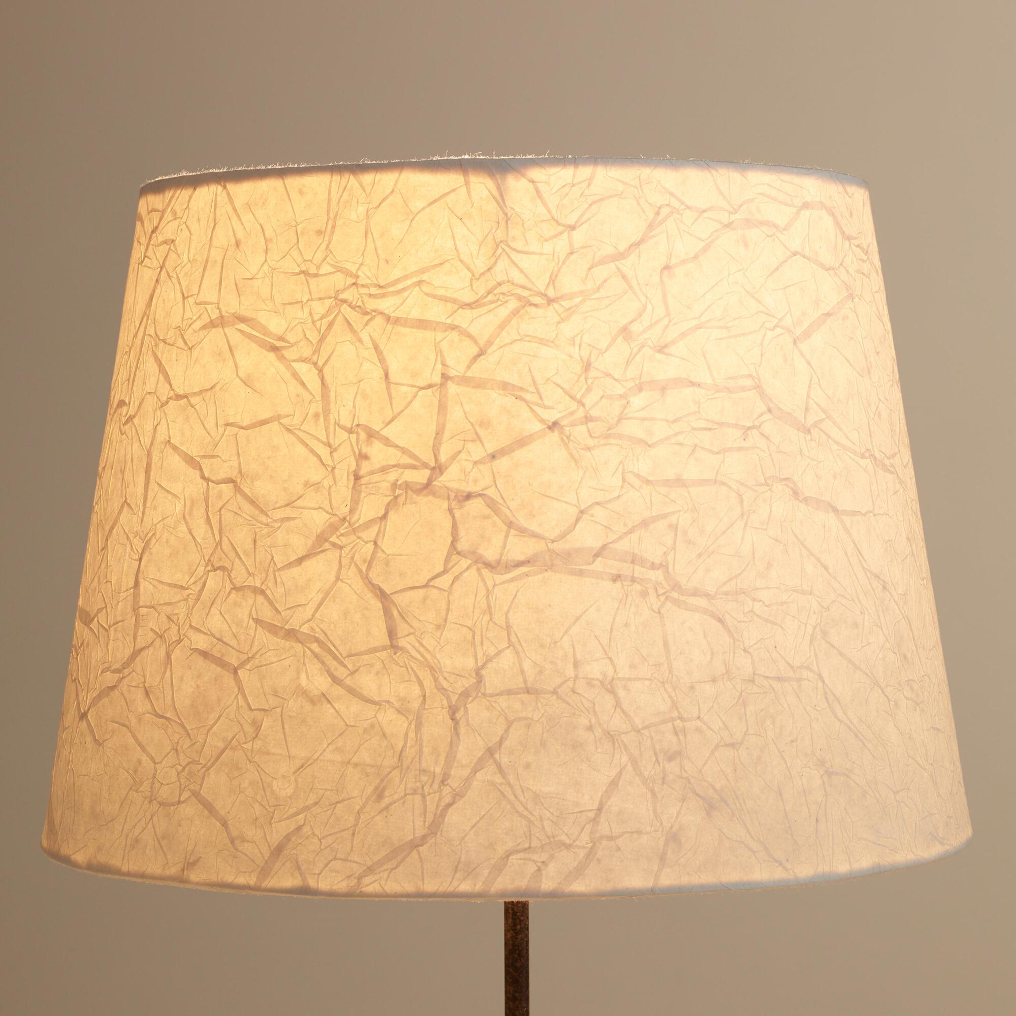 Paper Lamp Shades : Crinkled white paper table lamp shade world market