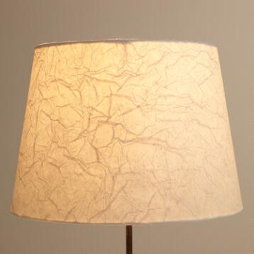 Crinkled White Paper Table Lamp Shade