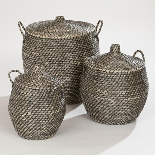 Jamilia Lidded Storage Basket Collection