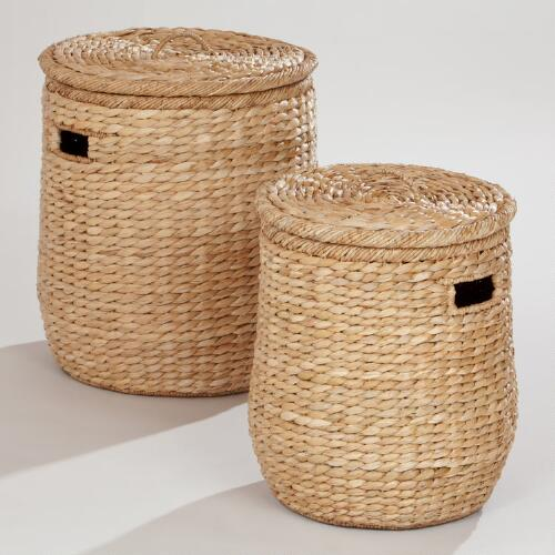 Victoria Lidded Storage Basket Collection