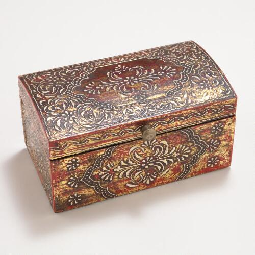 Lucia Handpainted Jewelry Box