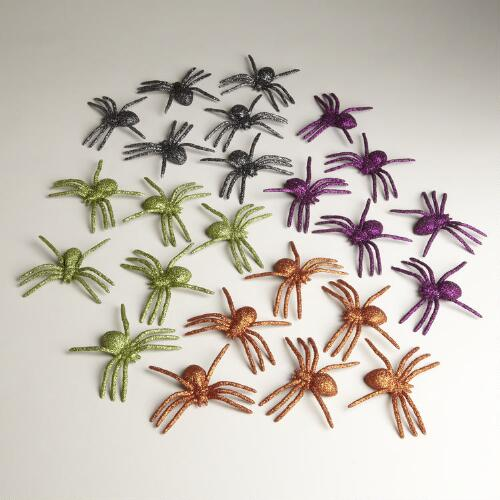 Glitter Spider Packs, Set of 4