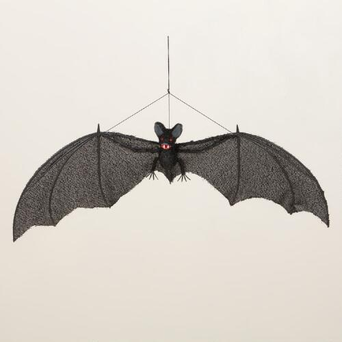 Large Hanging Black Bat