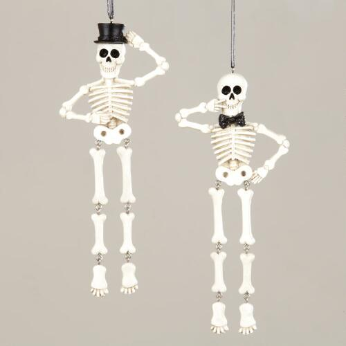 Skeleton Ornaments, Set of 2