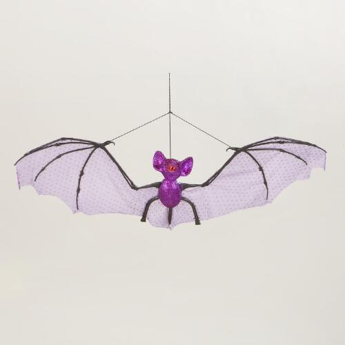 Large Hanging Glitter Bat