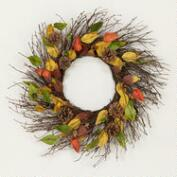 Acorn and Leaves Harvest Wreath