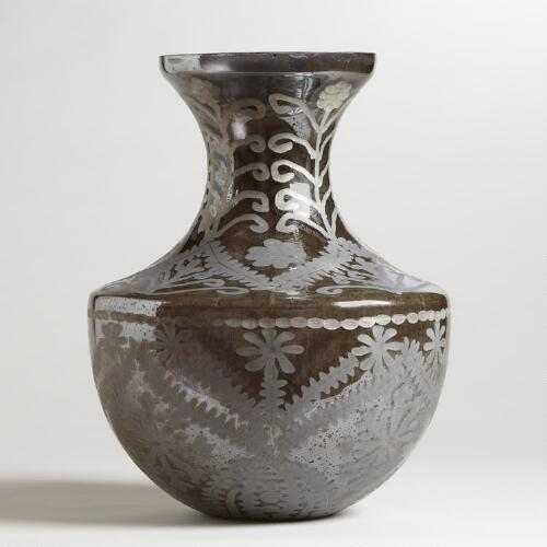 Round Smoke Divya Glass Vase