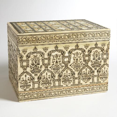 Large Wooden Venetian Box