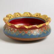 Painted Terracotta Divya Bowl