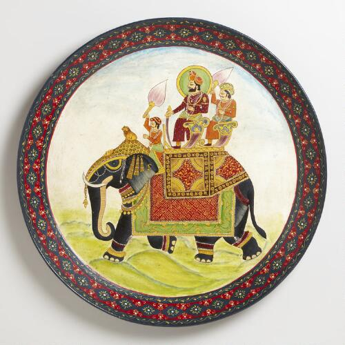 Round Painted Tray/Wall Hanging