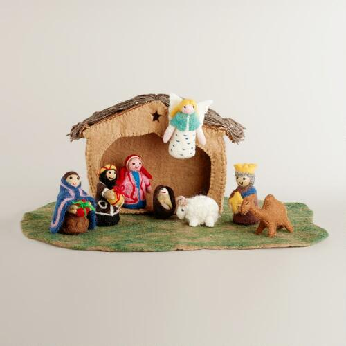 Nepal Felt Nativity Set