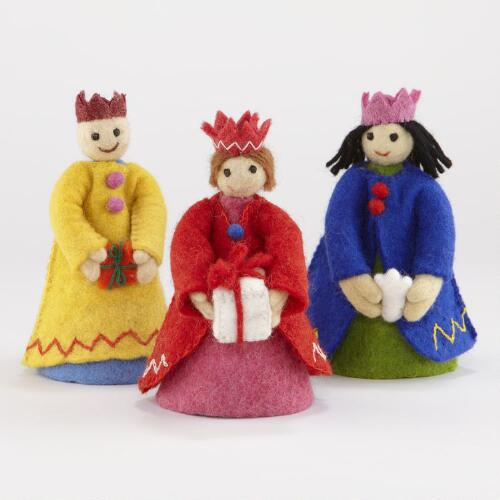 Assorted Felt Wise Men, Set of 3