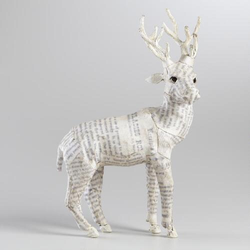 White Canvas Reindeer