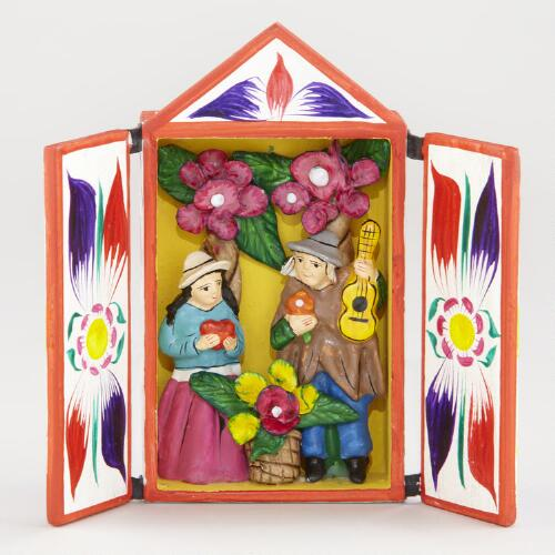 Rectangular Lovers Retablo