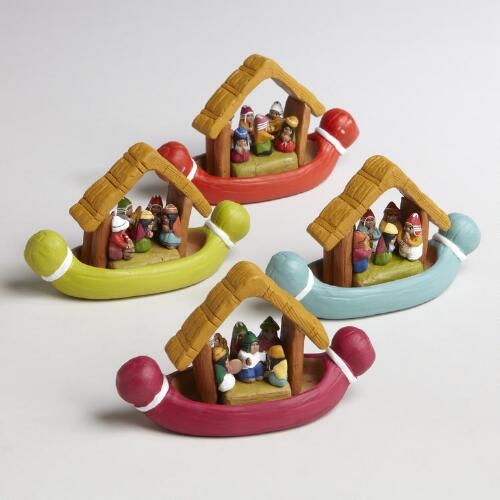 Assorted Peruvian Canoes, Set of 4