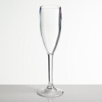 Acrylic Champagne Flutes, Set of 4
