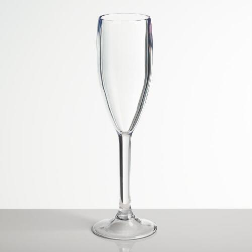 Clear Acrylic Flute, Set of 4