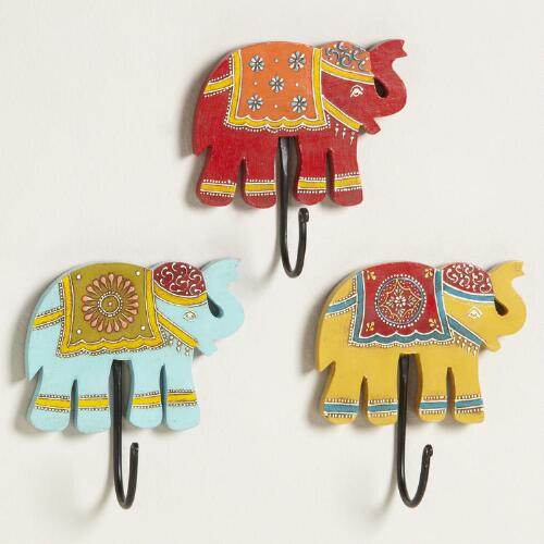 Assorted Elephant Hooks, Set of 3