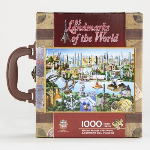 85 Landmarks of the World Puzzle Suitcase