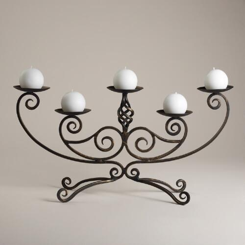 Scroll Centerpiece Candleholder