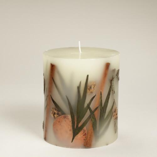 Fall Embedded Pillar Candle Collection