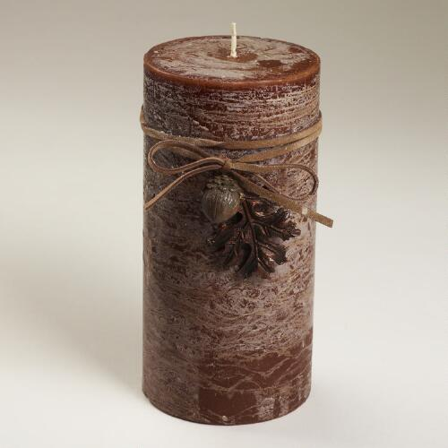 Rustic Brown Candle Collection