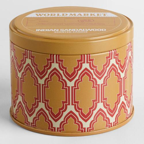 Indian Sandalwood Travel Candle Tin