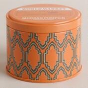 Mexican Pumpkin Travel Candle Tin
