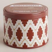 Indonesian Teak Travel Candle Tin