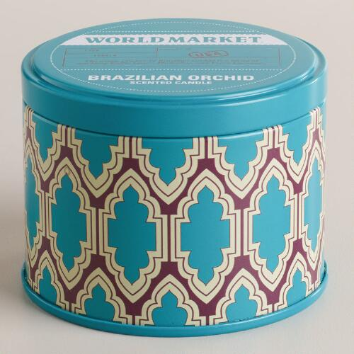 Brazilian Orchid Travel Candle Tin