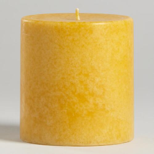 "3"" x 3"" Turkish Peach Pillar Candle"