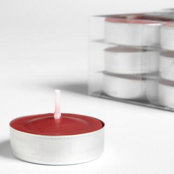 Asian Poppy Tealight Candles, 12-Pack