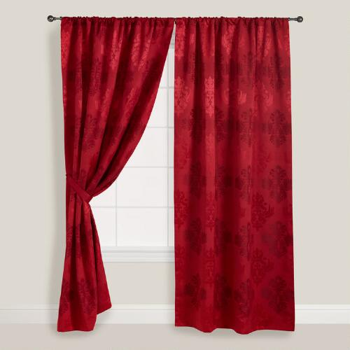 Wine Kensington Curtain