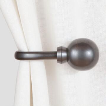 Gun Metal Ball Holdbacks, Set of 2