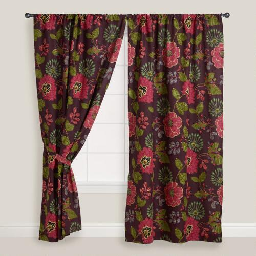 Ruby Floral Curtain
