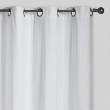 White Parker Grommet Top Curtain