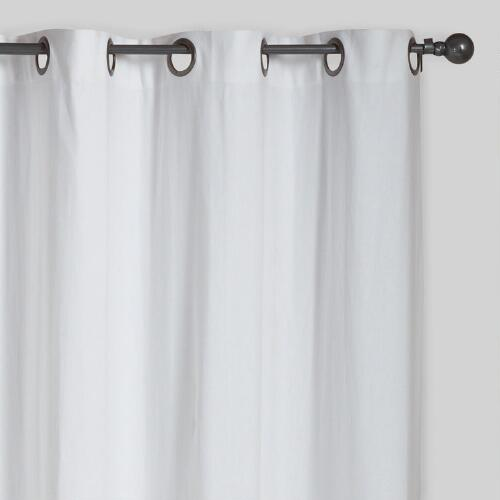 White Parker Grommet Top Curtains, Set of 2