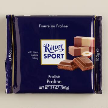Ritter Sport Milk Chocolate with Praline, Set of 13