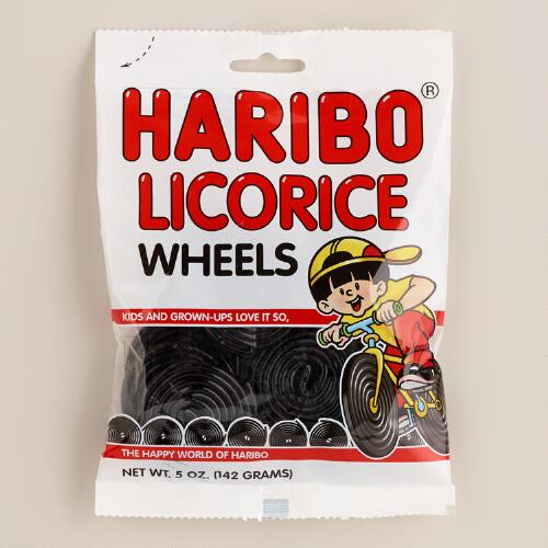 Haribo Licorice Wheels, Set of 12