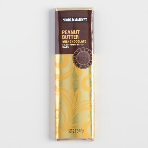 World Market® Peanut Butter Milk Chocolate Bar, Set of 2