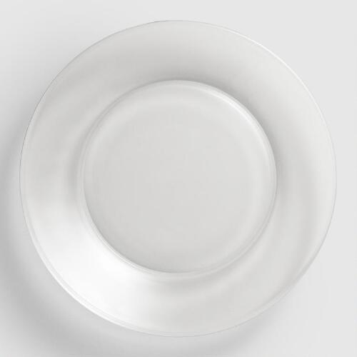 Clear Moderno Salad Plates, Set of 4