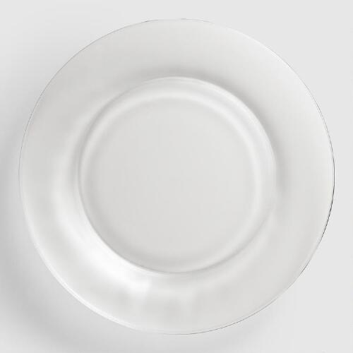 Clear Moderno Dinner Plates, Set of 4
