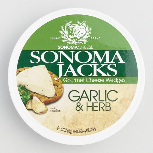 Sonoma Jacks Garlic Herb Cheese, Set of 12